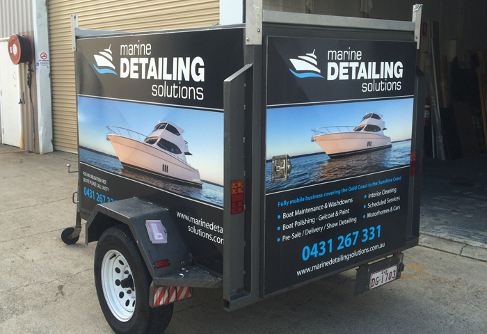 Marine detailing solutions trailer wrap